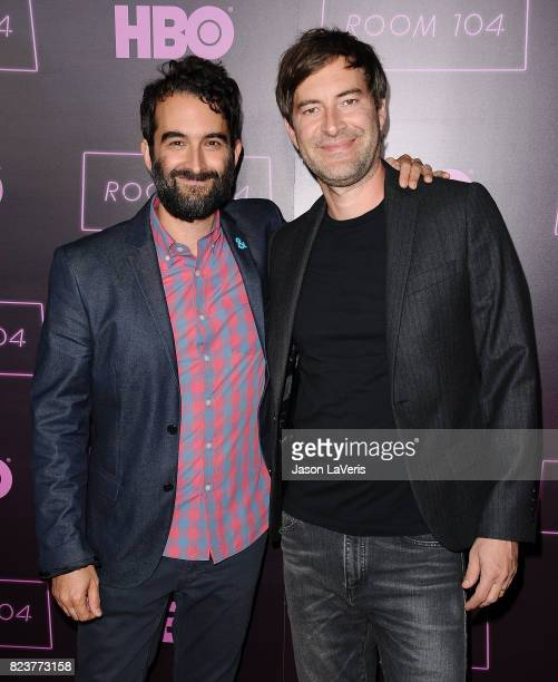 Jay Duplass and Mark Duplass attend the premiere of Room 104 at Hollywood Forever on July 27 2017 in Hollywood California