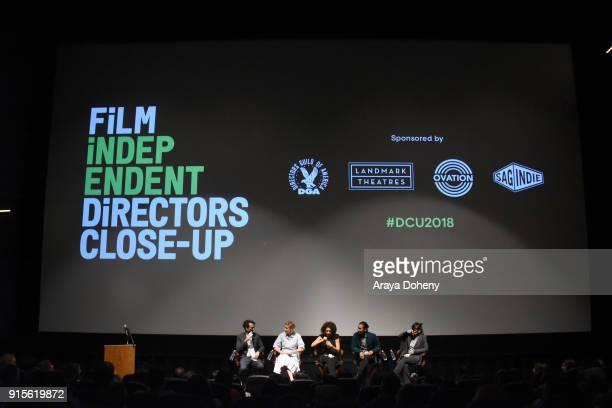 Jay Duplass Greta Gerwig Marielle Scott Jordan Rodrigues and April Napier attend the Film Independent Hosts Directors CloseUp Screening Of 'Lady...