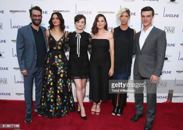 Jay Duplass Jenny Slate Abby Quinn Gillian Robespierre Elisabeth Holm and Finn Wittrock attend the Los Angeles premiere of Landline at ArcLight...