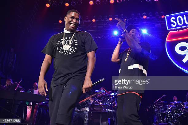 Jay Electronica and JayZ perform during TIDAL X JayZ Bsides in NYC on May 16 2015 in New York City