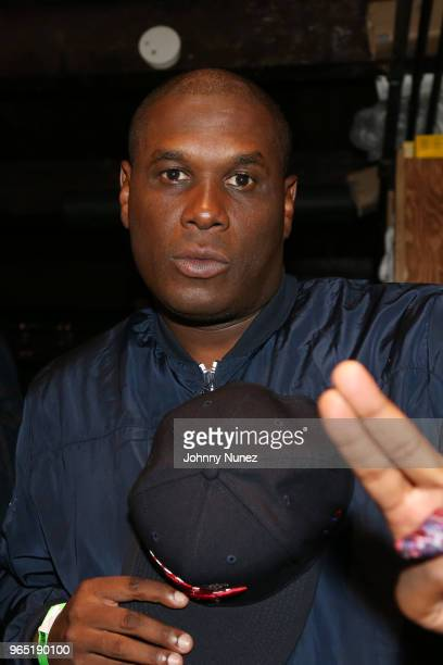 Jay Electronica backstage at Brooklyn Bowl on May 31 2018 in New York City