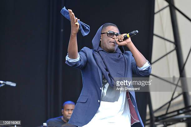 Jay Electronica of The Bullitts performs on stage during The Big Chill Festival 2011 at Eastnor Castle Deer Park on August 6 2011 in Ledbury United...