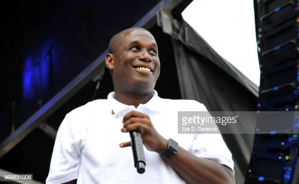 Jay Electronica performs during 2018 Governors Ball Music Festival Day 2 on June 2 2018 in New York City