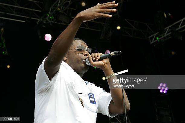 Jay Electronica performs live on the main stage during day two of the Love Box Weekender 2010 at Victoria Park on July 17 2010 in London England