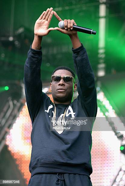 Jay Electronica performs onstage during the 2016 Budweiser Made in America Festival at Benjamin Franklin Parkway on September 3 2016 in Philadelphia...