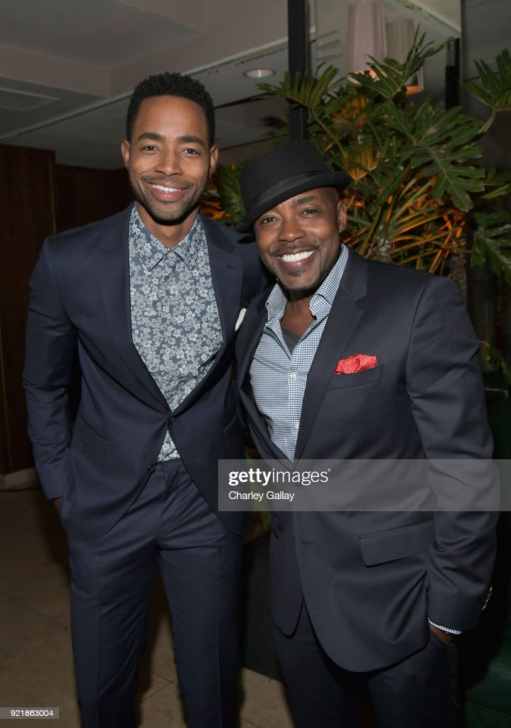 Jay Ellis (L) and Will Packer, both wearing Hugo Boss, attend Esquire's 'Mavericks of Hollywood' Celebration presented by Hugo Boss on February 20, 2018 in Los Angeles, California.
