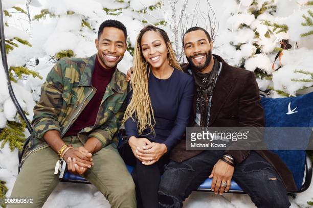 Jay Ellis Meagan Good and Omari Hardwick attend as Grey Goose Blue Door hosts the casts of gamechanging films during the Sundance Film Festival at...