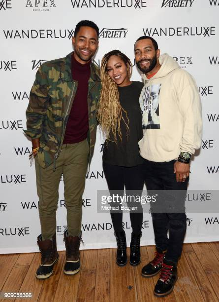Jay Ellis Meagan Good and Omari Hardwick attend the WanderLuxxe House with Apex Social Club and Tesla presents A BOY A GIRL AND A DREAM Premiere...