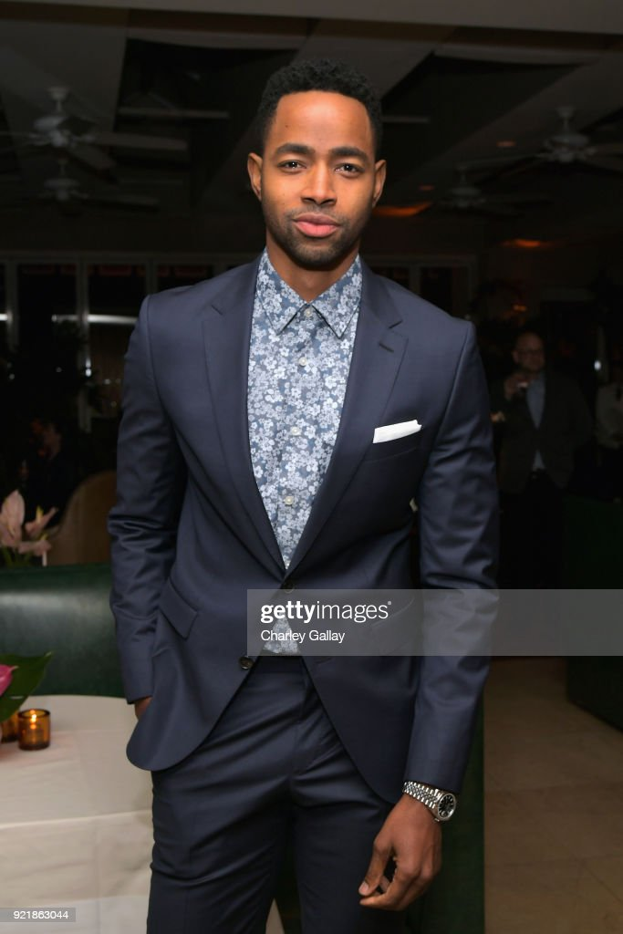 Jay Ellis, wearing Hugo Boss, attends Esquire's 'Mavericks of Hollywood' Celebration presented by Hugo Boss on February 20, 2018 in Los Angeles, California.