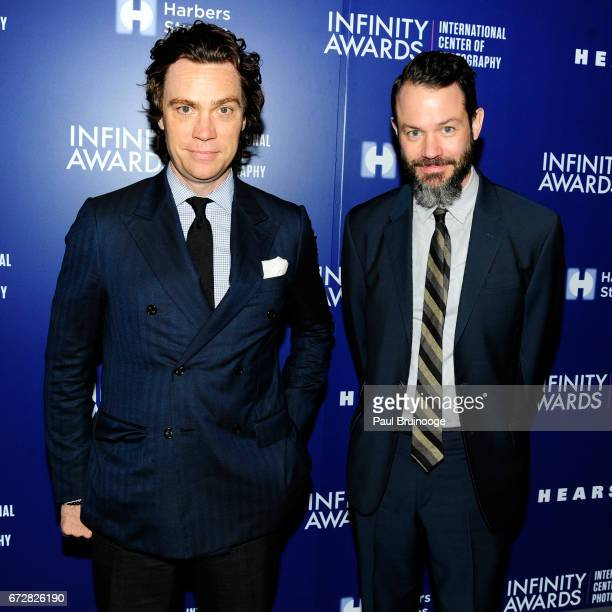Jay Fielden and Justin O'Neil attend International Center of Photography 33rd Annual Infinity Awards at Pier Sixty at Chelsea Piers on April 24 2017...