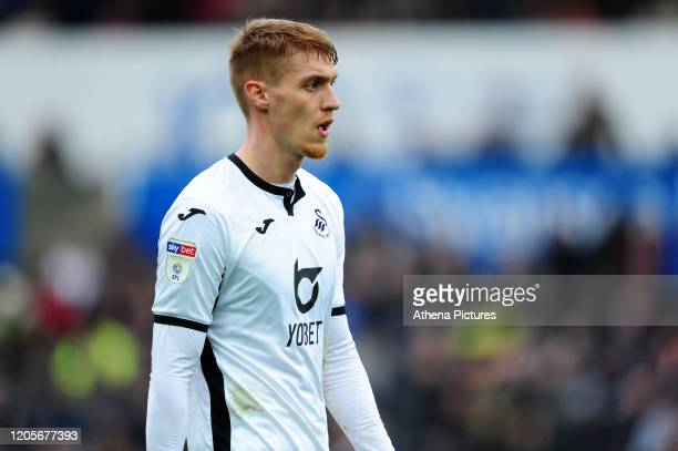 Jay Fulton of Swansea City during the Sky Bet Championship match between Swansea City and West Bromwich Albion at the Liberty Stadium on March 07...