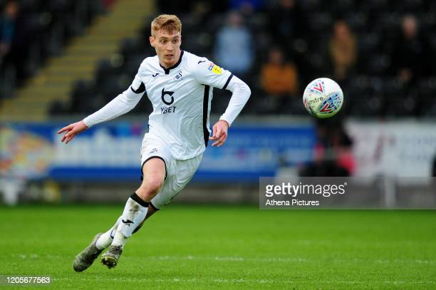 Jay Fulton of Swansea City in action during the Sky Bet Championship match between Swansea City and West Bromwich Albion at the Liberty Stadium on...