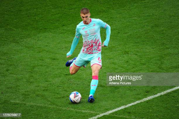 Jay Fulton of Swansea City in action during the Sky Bet Championship match between Bristol City and Swansea City at Ashton Gate on October 24 2020 in...