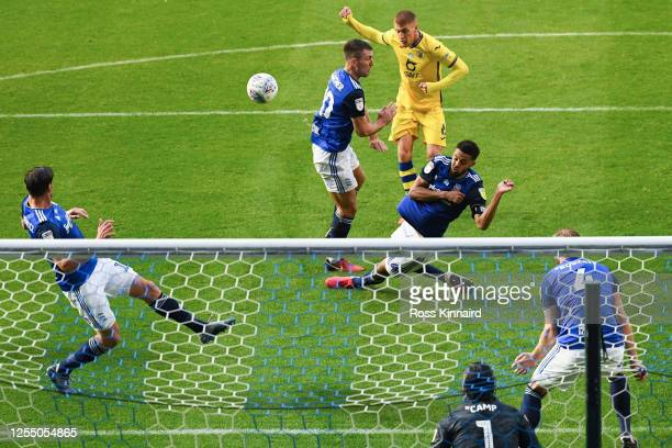 Jay Fulton of Swansea scores his team's third goal during the Sky Bet Championship match between Birmingham City and Swansea City at St Andrew's...