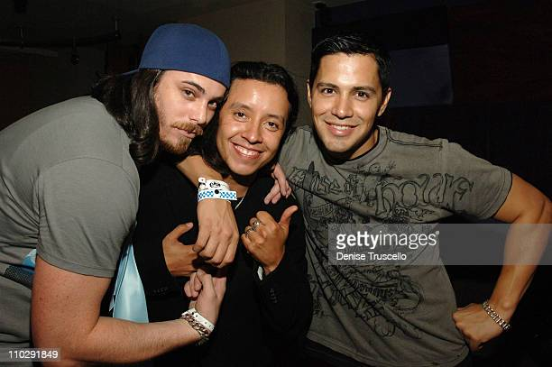 Jay Galvin Efren Ramirez and Jay Hernandez during Bacardi Global Gathering 2006 B Live After Party in The Real World Suite in The Palms Hotel and...
