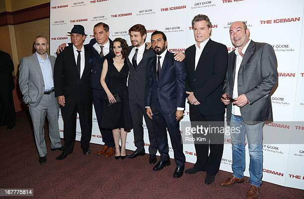 Jay Giannone Robert Davi Michael Shannon Winona Ryder James Franco Danny Abeckaser Ray Liotta and guest attend the The Iceman screening presented by...