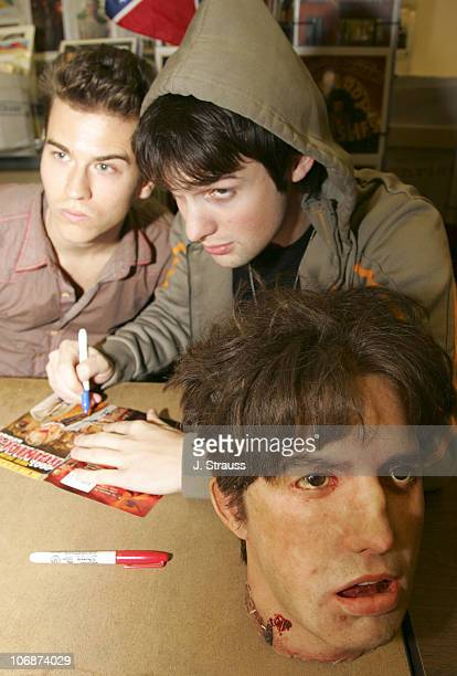 Jay Gillespie and Dylan Edrington during '2001 Maniacs' DVD Release Party and Cast Signing at Hollywood Book Poster March 29 2006 at Hollywood Book...
