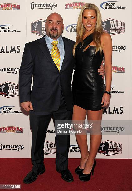Jay Glazer and guest arrive at the Fighters Only World Mixed Martial Arts Awards at the Pearl Theatre at the Palms Hotel and Casino on December 1...