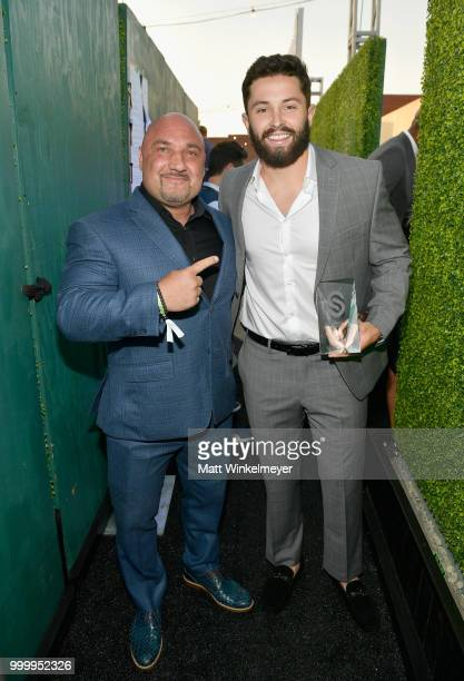 Jay Glazer and honoree Baker Mayfield attend the 33rd Annual CedarsSinai Sports Spectacular at The Compound on July 15 2018 in Inglewood California