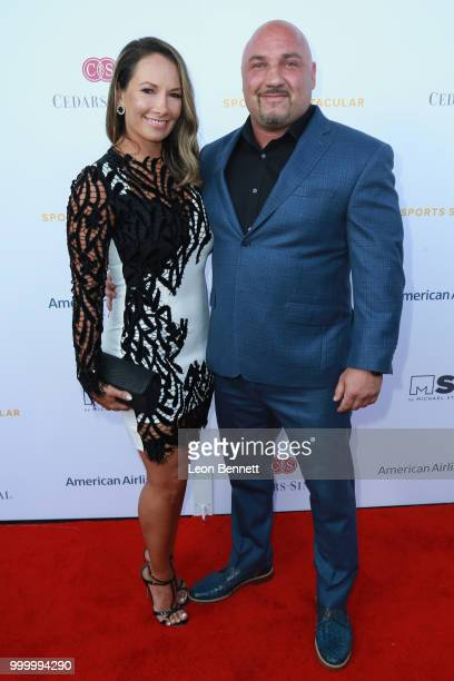 Jay Glazer and Michelle Graci attend the 33rd Annual CedarsSinai Sports Spectacular Gala on July 15 2018 in Los Angeles California
