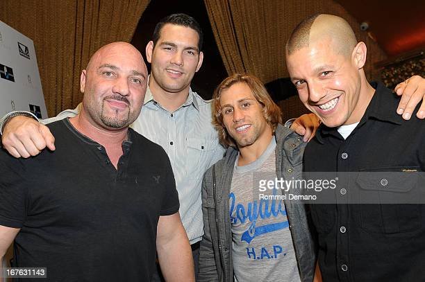 Jay Glazer Chris Weidman Urijah Faber and Theo Rossi attend the Help Rebuild New York benefit at Gold Bar on April 26 2013 in New York City