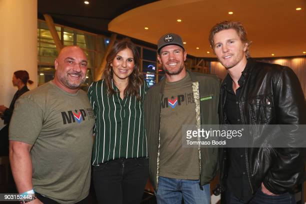 Jay Glazer Molly Smith Nate Boyer and Thad Luckenbill attend the Special Screening Of '12 Strong' For MVP's Military Veterans at ArcLight Hollywood...