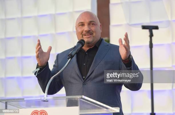 Jay Glazer speaks onstage during the 33rd Annual CedarsSinai Sports Spectacular at The Compound on July 15 2018 in Inglewood California