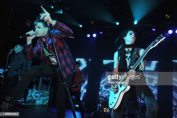 Jay Gordon and Carlton Bost of Orgy perform at Irving Plaza on March 6 2012 in New York City