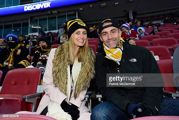 Jay Harrington attends the 2016 Bridgestone NHL Classic between the Montreal Canadiens and the Boston Bruins at Gillette Stadium on January 1 2016 in...