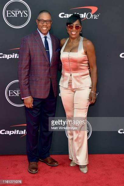 Jay Harris and Dawnn Lewis attend The 2019 ESPYs at Microsoft Theater on July 10 2019 in Los Angeles California