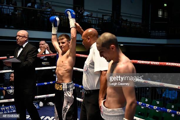 Jay Harris defeats Tibor Nador at York Hall on July 17 2015 in London England