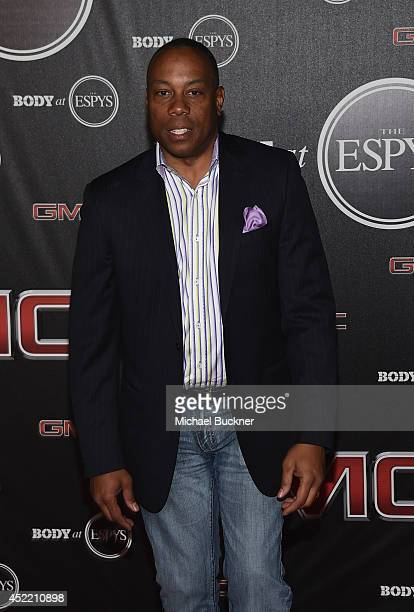 Jay Harris of ESPN arrives at the ESPN's BODY at ESPY's PreParty at Lure on July 15 2014 in Hollywood California