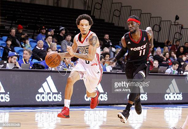 Jay Harris of the Raptors 905 dribbles the ball against the Sioux Falls Skyforce during the 2016 NBA DLeague Showcase presented by SAMSUNG on January...