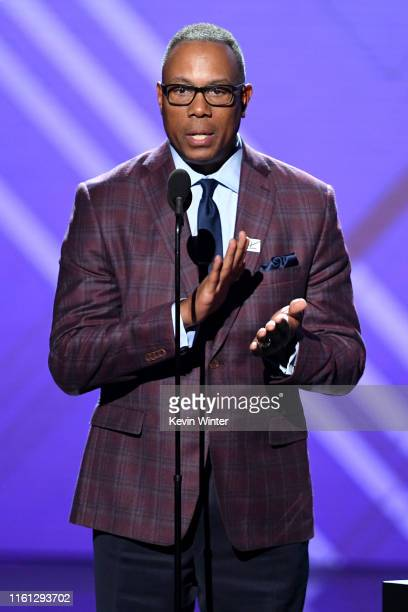 Jay Harris speaks onstage during The 2019 ESPYs at Microsoft Theater on July 10 2019 in Los Angeles California