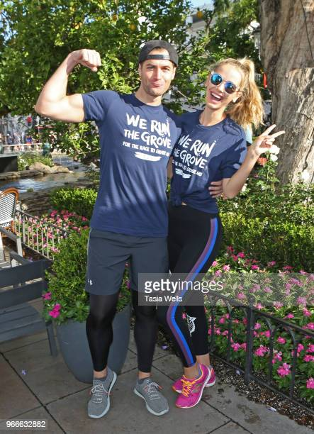 Jay Hector and Olivia Jordan attend The Grove hosts We Run the Grove Race to Erase MS at The Grove on June 3 2018 in Los Angeles California