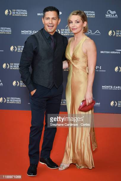 Jay Hernandez and Daniella Deutscher attend the opening ceremony of the 59th Monte Carlo TV Festival on June 14 2019 in MonteCarlo Monaco
