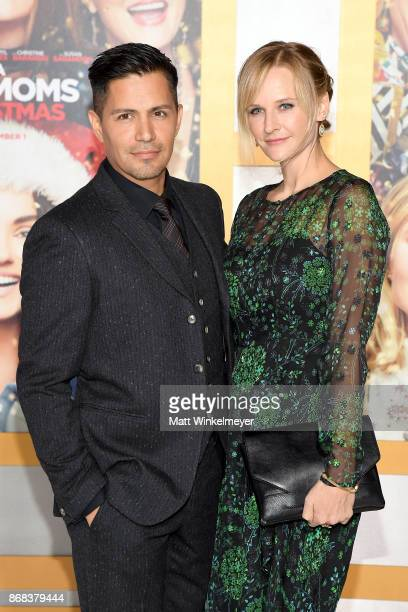 "Jay Hernandez and Daniella Deutscher attend the premiere of STX Entertainment's ""A Bad Moms Christmas"" at Regency Village Theatre on October 30, 2017..."