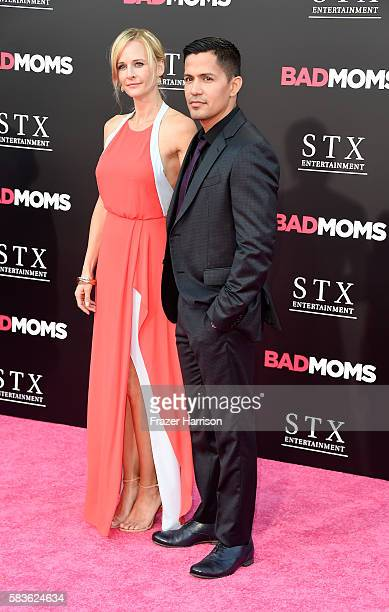 "Jay Hernandez and Daniella Deutscher attend the premiere of STX Entertainment's ""Bad Moms"" at Mann Village Theatre on July 26, 2016 in Westwood,..."