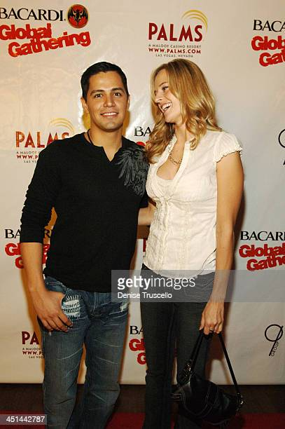 Jay Hernandez and Daniella Deutscher during Bacardi Global Gathering 2006 Red Carpet for Tiesto at Rain in The Palms Hotel and Casino Resort at Rain...