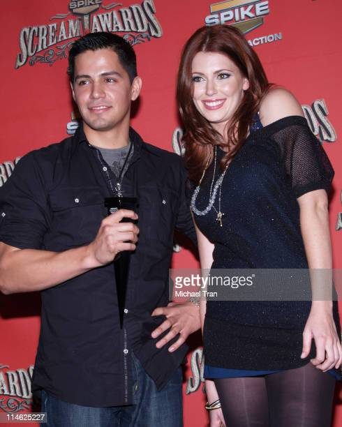 Jay Hernandez and Diora Baird during Spike TV's Scream Awards 2006 Press Room at Pantages Theater in Hollywood California United States