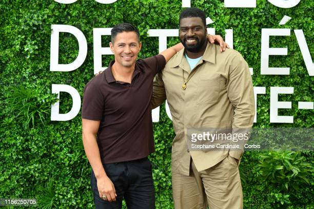 Jay Hernandez and Stephen Hill from the TV series Magnum PI attend the 59th Monte Carlo TV Festival Day Three on June 16 2019 in MonteCarlo Monaco