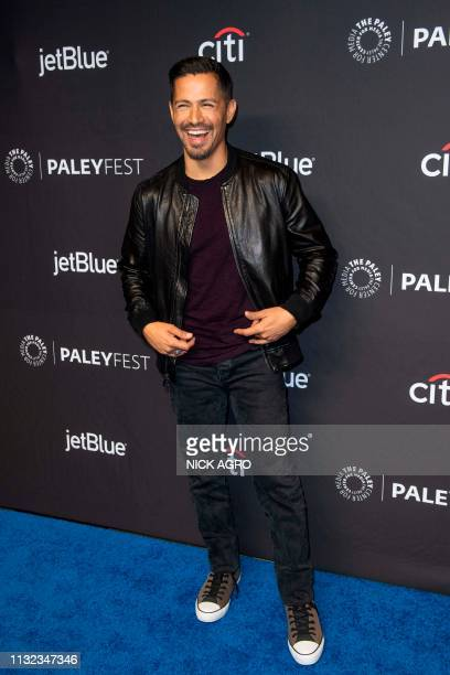 Jay Hernandez arrives for the Paley Center for Media's 2019 PaleyFest 'Hawaii Five0' 'MacGyver' And 'Magnum PI' March 23 2019 at the Dolby Theater in...