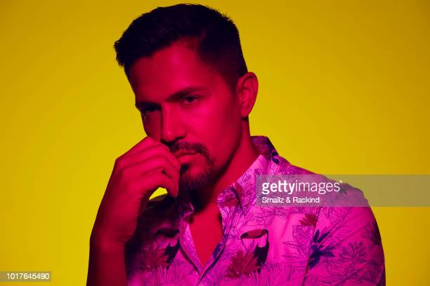Jay Hernandez from CBS's 'Magnum PI' poses for a portrait in the Getty Images Portrait Studio powered by Pizza Hut at San Diego 2018 Comic Con at...