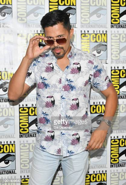 Jay Hernandez of 'Magnum PI' attends CBS Television Studios Press Line during ComicCon International 2018 at Hilton Bayfront on July 19 2018 in San...