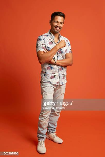 Jay Hernandezl from CBS's 'Magnum PI' poses for a portrait in the Getty Images Portrait Studio powered by Pizza Hut at San Diego 2018 Comic Con at...
