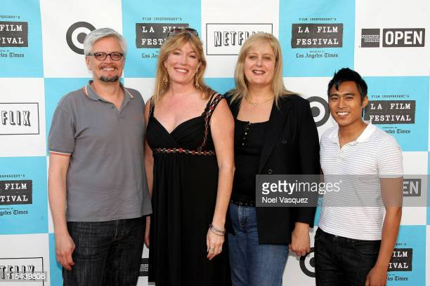 Jay Hodges Marci Bowers Sabrina Marcus and PJ Raval attend the 2008 Los Angeles Film Festival's Trinidad Screening on June 23 2008 at the Mann...