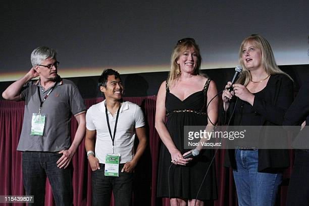 Jay Hodges PJ Raval Marci Bowers and Sabrina Marcus attend the 2008 Los Angeles Film Festival's Trinidad Screening on June 23 2008 at the Mann...