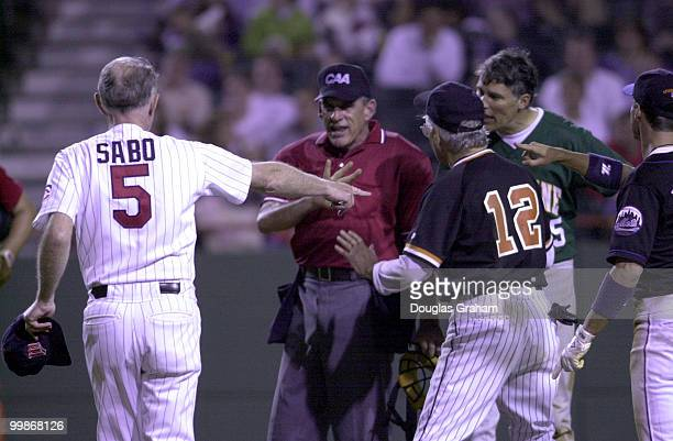 Jay Inslee DWash protest a play at home plate during the 39th Annual Congressional Baseball Game