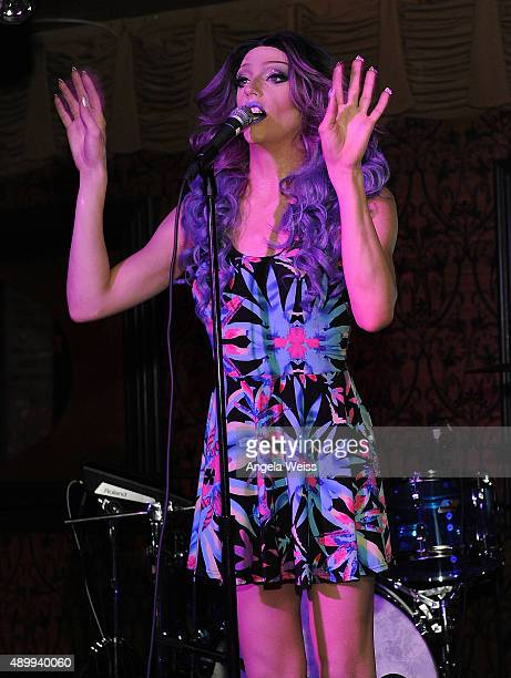 Jay Jackson aka Laganja Estranja performs at YoungArts Awareness Day at Madame Siam in Los Angeles on September 24 2015 in Hollywood California