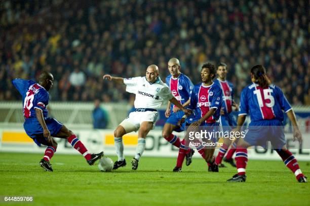 Jay Jay Okocha / Ivan de la Pena / Jerome Leroy / Edouard Cisse Marseille / Paris Saint Germain Division 1 Photo Alain Gadoffre / Icon Sport